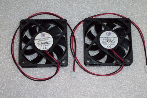 2-PIN 2 PCS 24 VDC SMALL MINI COOLING FAN 60X60X15 MM DC Brushless 2.54