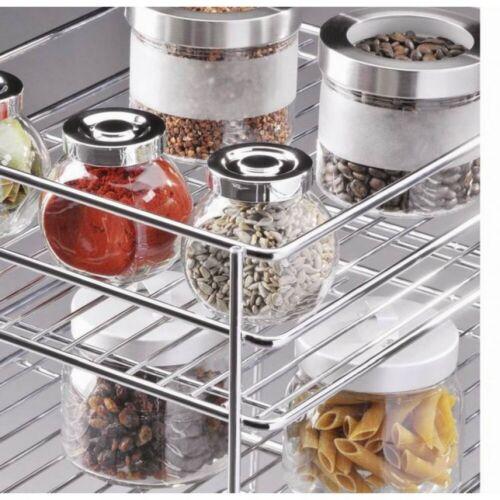 Küchenschrankauszug Seitenauszug Unterschrankauszug 3 Etagen SilberChrom