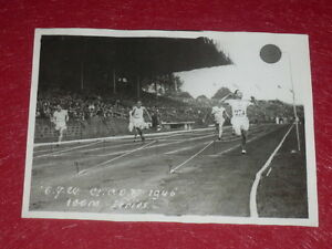 Coll-J-DOMARD-SPORT-OLYMPIC-GAMES-PARIS-1924-100m-SCHOLZ-ORIGINAL-PHOTO-PRESS