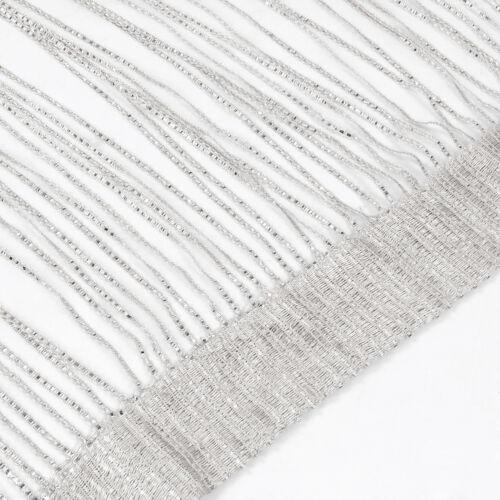 Sparkle String Window Door Curtains Net Panel Room Divider Tassle Fly Screen