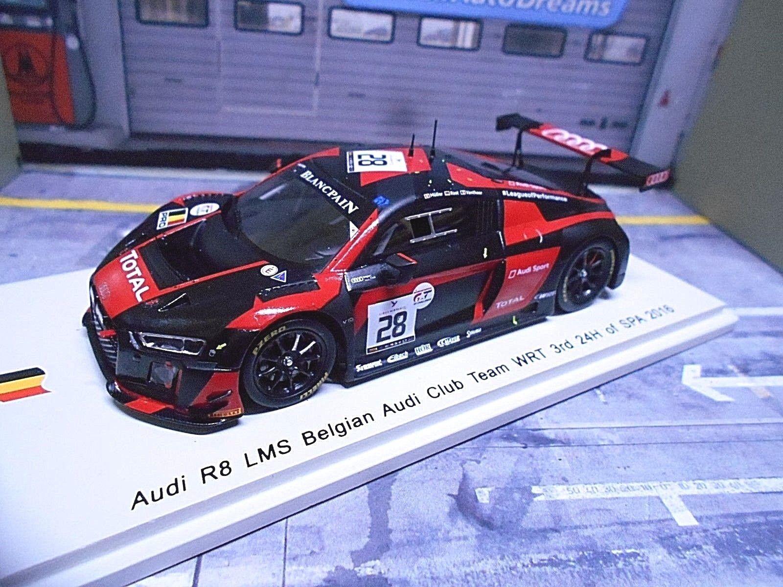 Audi r8 LMS 24 H Spa 2016  28 Müller Rast Vanthoor expérimentés 3rd Resin Spark 1 43