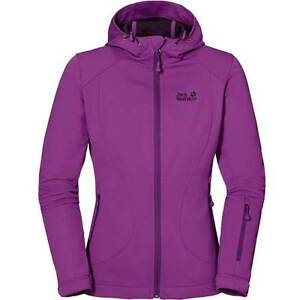 Purple 8 con Uk Rrp S 10 Dance Softshell Bnwt Hyacinth Sonic cappuccio £ Wolfskin Giacca 140 Jack vxqY5Bzq
