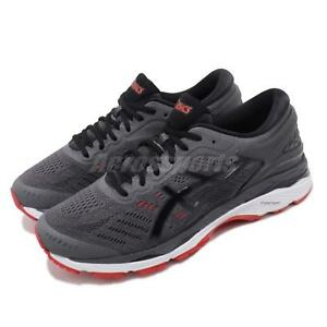Asics Gel-Kayano 24 2E Wide FlyteFoam Grey Red Mens Running Shoes ... 129f079a8