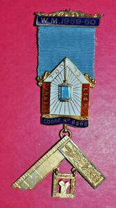 Masonic Past Master's Jewel Lodge of Eternal Light No 6568 London hallmark