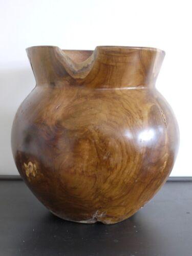 Teck Racine vase commerce équitable en BOIS MASSIF VASE 30 CM érosion vase fantastique JARDINIERE