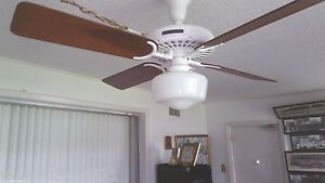100 year old hunter c 17 antique electric 52 ceiling fan restoration hardware ebay. Black Bedroom Furniture Sets. Home Design Ideas