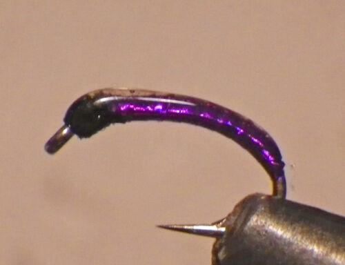 Holo Midge-Dark Purple-Fly Fishing Flies-Trout Flies-Wet