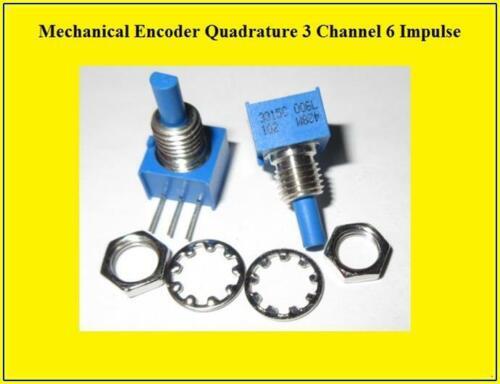 Bourns Mechanical Encoder Rotary Incremental Quadratur 3 Channel 2 Stück