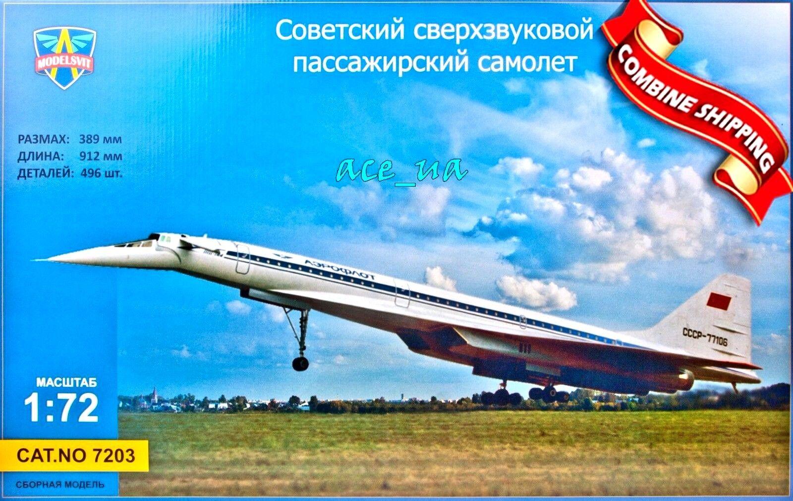 Modelsvit 7203 Tupolev Tu-144 Supersonic Airliner code Charger Plastic Kit 1 72