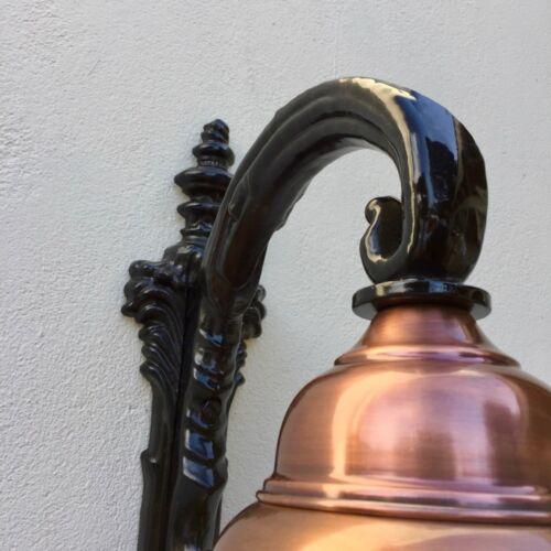 Wandlampe Jahrhundertwende Lampe mit Kupfer Lampenschirm Außenleuchte Stallampe