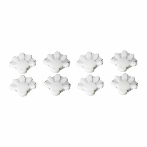 NEW IKEA PATRULL CHILD BLACK 8 PACK BABY SAFETY CORNER GUARDS WHITE