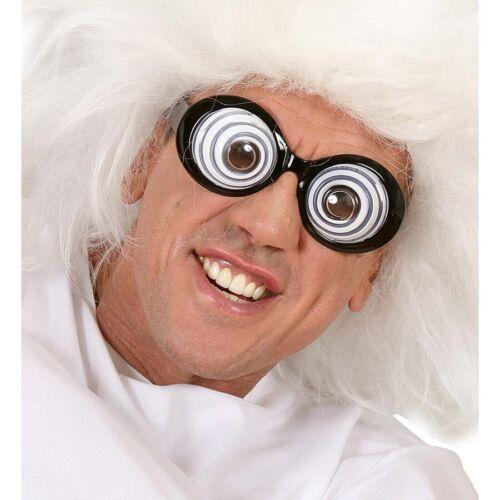 SPINNER BRILLE Junggesellenabschied Irrer Vollidiot Psycho Gag Partybrille 6627