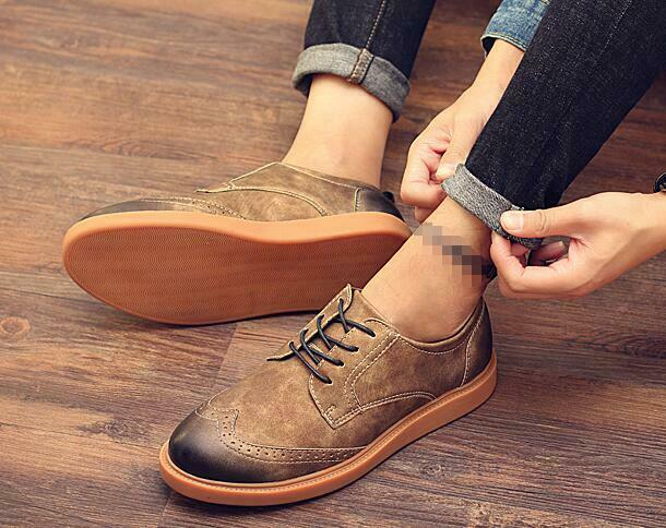 Genuine Suede Wing Tip Brogue Lace Up Up Up Oxfords Vintage shoes Mens Dress shoes d015e5