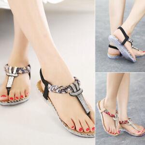 Ladies-Summer-Shoes-Elastic-Band-Gladiator-Women-T-strap-Thong-Flip-Flop-Sandals