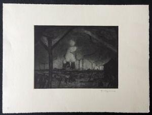 Richard-Gessner-Vorstadt-Duesseldorf-Radierung-1919-handsigniert
