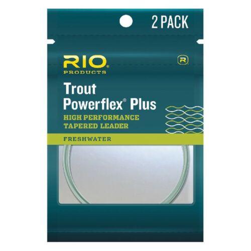 Fly Fishing Leaders environ 2.74 m environ 2.72 kg Rio 2-Pack Powerflex plus truite 9 ft 5X Nylon 6 lb