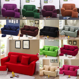 Removable Protector Couch Slipcover Elastic Stretch Sofa Covers 1 2 3 4 Seaters