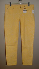 NWT GAP ALWAYS SKINNY YELLOW PRINT LOW RISE STRETCH JEANS NEW SIZE 34 (18)
