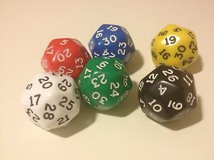 D30-30-sided-Large-Poly-Dice-Roleplay-Games-Numeracy-Maths-D094