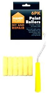 Contemplatif 6pcs Mini Paint Roller Foam Sponge Pochette Gloss Painting Handle À Faire Soi-même Set Otl-afficher Le Titre D'origine Haute Qualité