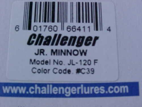 "Challenger 3 1//2/"" Junior Minnow Lure JL120F#C39 en Marron Sucker for Bass//Doré"