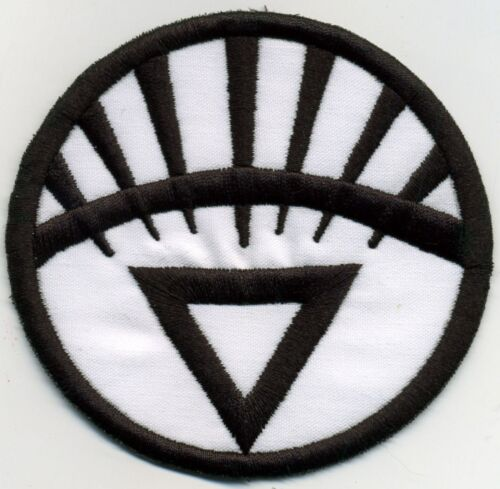 """5/"""" White Lantern Corps Classic Style Embroidered Iron-on Patch"""
