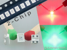 10x SMD LED PLCC4 3528  DOPPELCHIP ROT GRÜN red green rouge vert rood groen