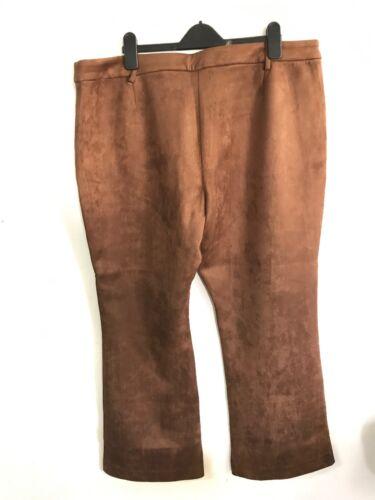 Womens Uk Brown C Trousers artigiano 22 Suedette Size UvBW5q