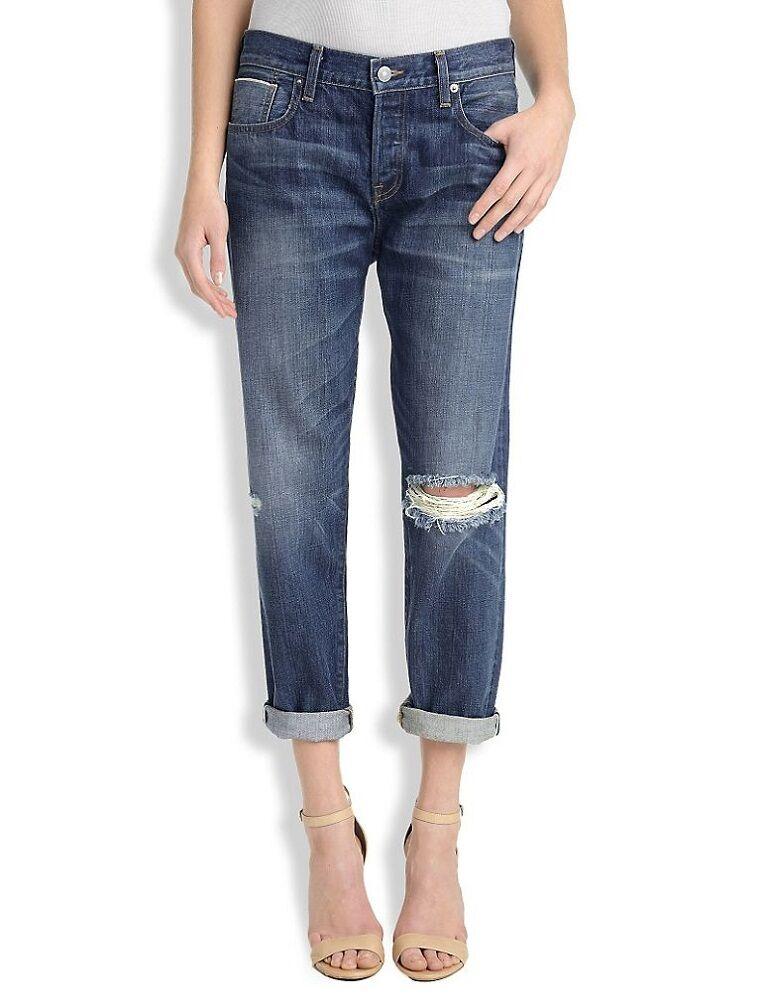 Lucky Brand Kanten Hergestellt in USA Damen Dylan Boyfriend Jeans Neu 4 27