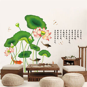 lotus rich carp room home decor removable wall stickers mexican home decor tips with rich ethnicity 3197 house