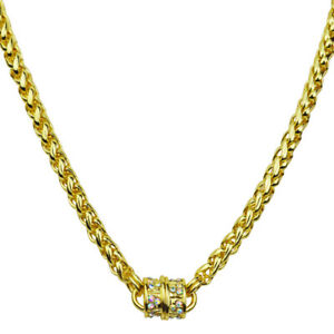 Kirks-Folly-Magic-Weave-17-034-Chain-Magnetic-Interchangeable-Necklace-Goldtone