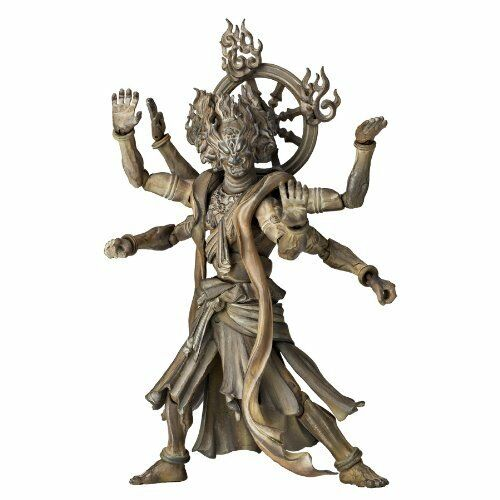 KAIYODO Revoltech TAKEYA BUDDHIST STATUE COLLECTION No.003EX ASHURA Wood Tone
