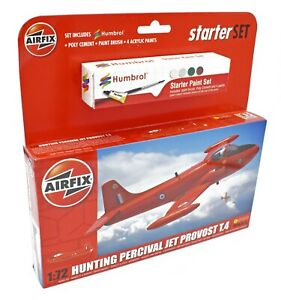 AIRFIX-1-72-HUNTING-PERCIVAL-JET-PROVOST-T-4-MODEL-AIRCRAFT-STARTER-SET-A55116