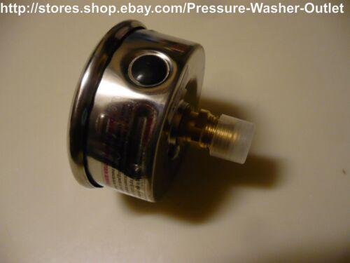 PIC Gauge 202L-254P Glycerin Filled  Center Back Mount Pressure Gauge 3000 PSI