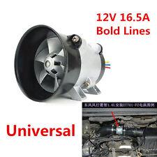 Universal Car SUV Electric Turbine Turbocharger Tan Air Intake Fan 12V Bold Line