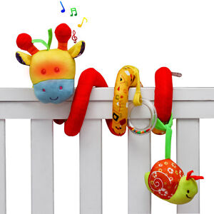Image Is Loading Giraffe Baby Crib Toy Wrap Around Rail