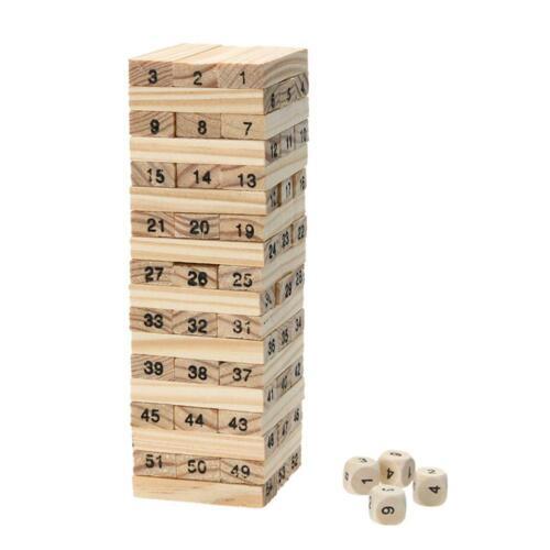 Holzturm Holzspielzeug Domino Stapler Extrakt Figur Blöcke Jenga Spiel KS