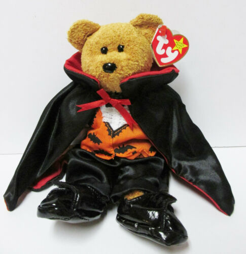 """Ty Beanie Baby  /""""Fuzz/"""" Bear in Ty Gear COUNT for Halloween*"""