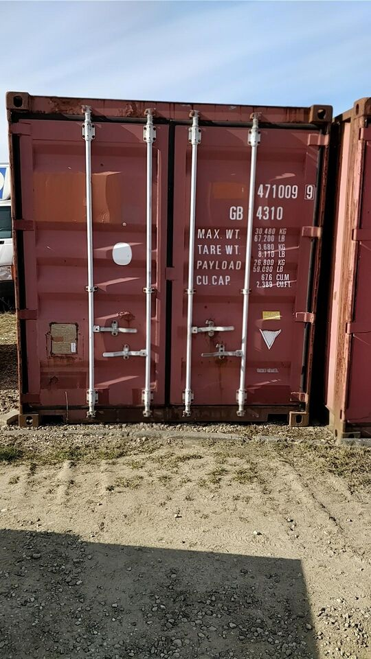 fin brugt 40 fods container