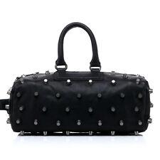 Noble Bags Pernelle Punk XL Rivets Black Damen Lederhandtasche 3Handle *UVP 399€