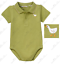 Janie /& Jack NWT Green DUCKLING POND POLO SHORT SLEEVE BODYSUIT TOP 3 6 Months
