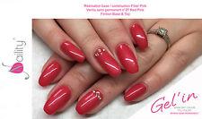 Vernis semi permanent Gel'in soakoff color gel polish n°27 RED PINK 15ml usa