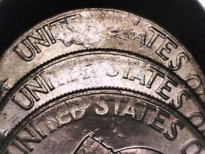3-Struck-Thru-Error-1976-UNC-Eisenhower-Ike-Dollars-in-progression-from-same-bag