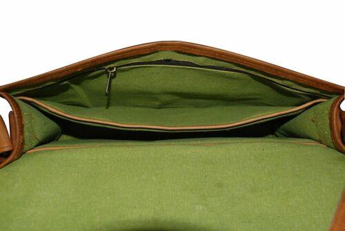 Goat Leather Bag Men/'s Genuine Vintage Messenger Bag Shoulder Laptop Briefcase