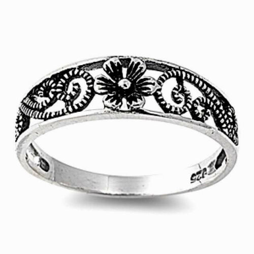 USA Seller Flower Ring Sterling Silver 925 Best Deal Plain Jewelry Gift Size 5