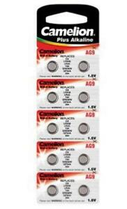 10 Batterien für Swatch Irony Chrono 394 Batterie AG9  9,5 x 3,6mm