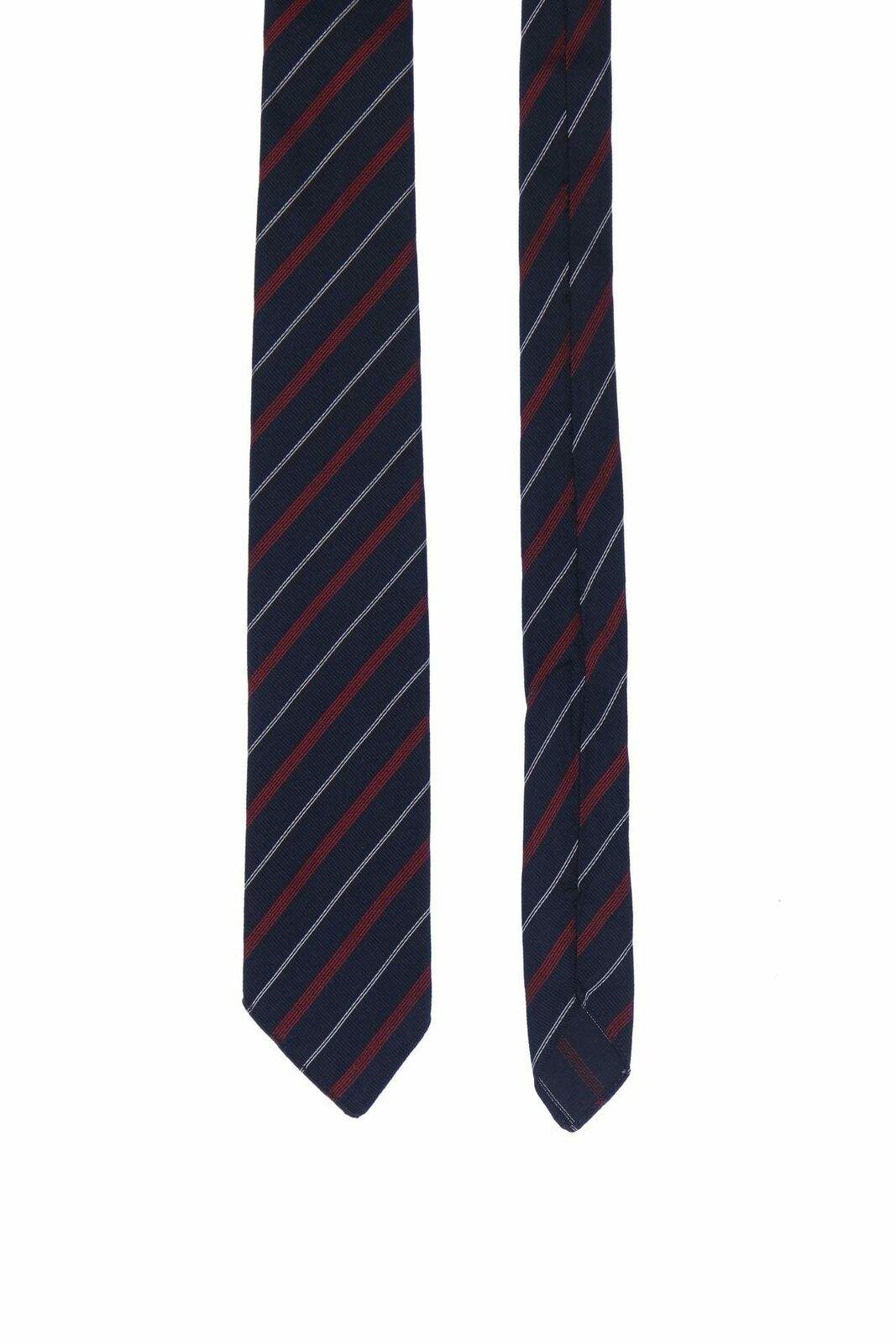 Altea Silk Tie with Stripes Black Silk Tie