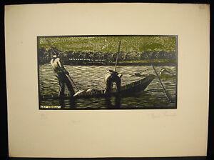 The-Curlew-Wood-Engraved-Original-Signed-Henri-Francois-Num-93-100-c1950