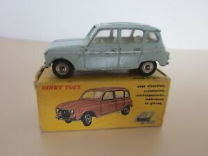 DINKY-TOYS-RENAULT-4L-BLEUE-REFERENCE-518