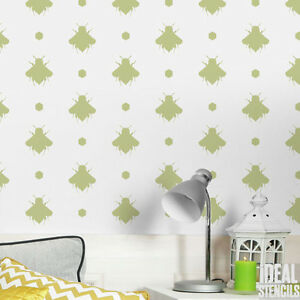 Bee Motif Stencil Bespoke Peinture Murale Decor Craft